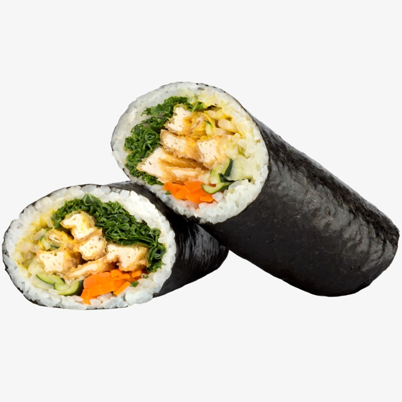 Sushi burrito vegano